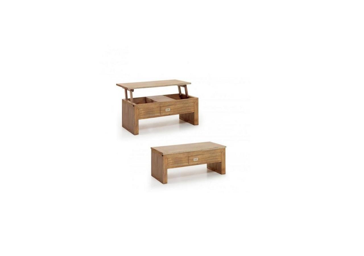 Mesa de centro de madera ELEVABLE