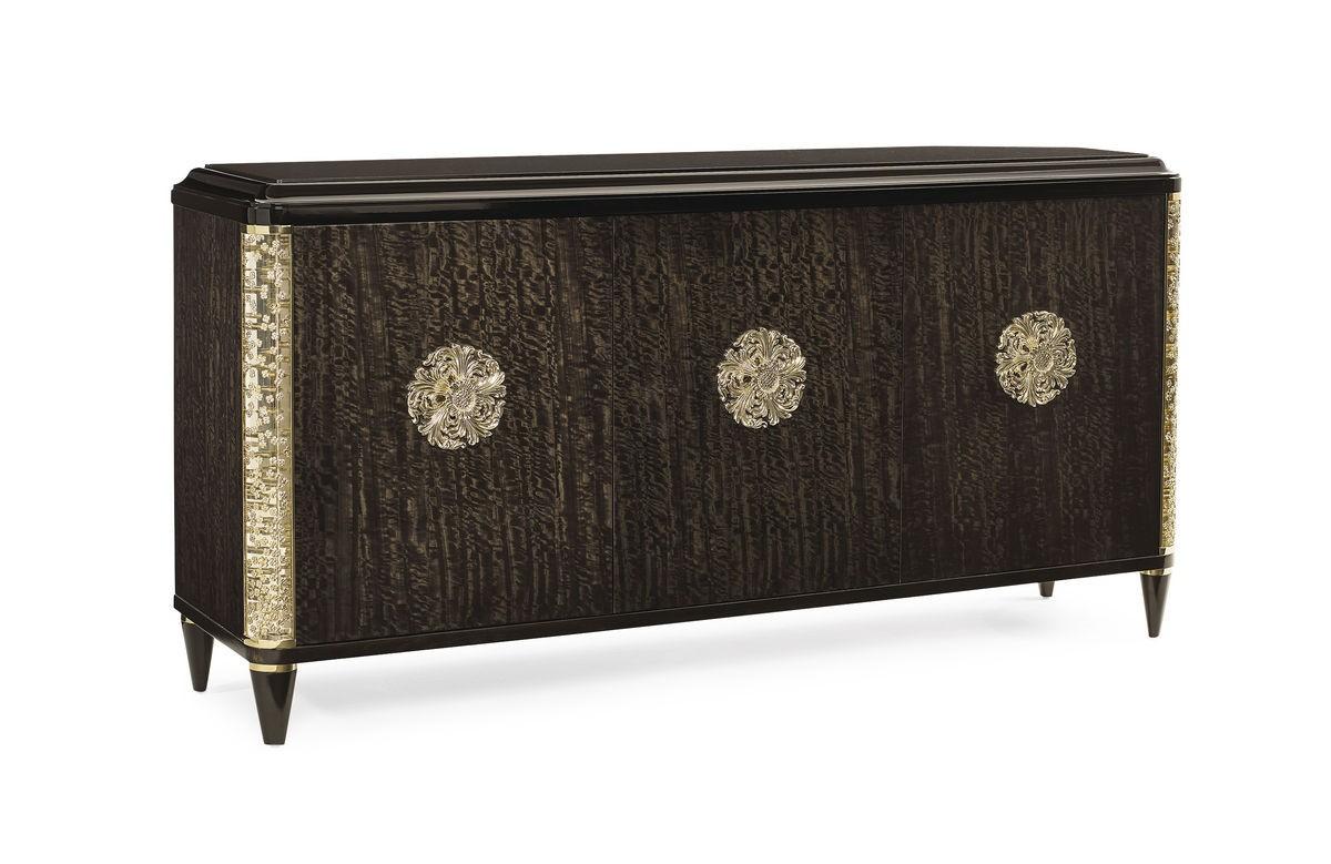 Credenza Con Puertas De Cristal : Aparador moderno 3 puertas tapa de piedra detalles en oro the