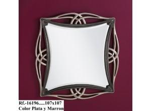 Espejo 16196 MARRÓN PLATA