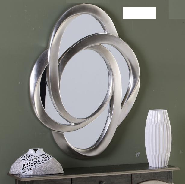 Espejo 16230 plata cuorebello for Espejo ovalado plata