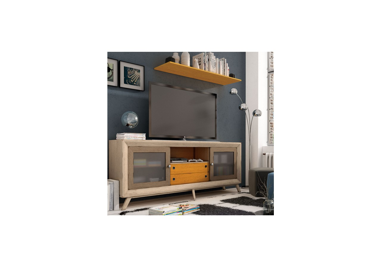Mueble tv vintage 220 cuorebello for Mueble tv vintage