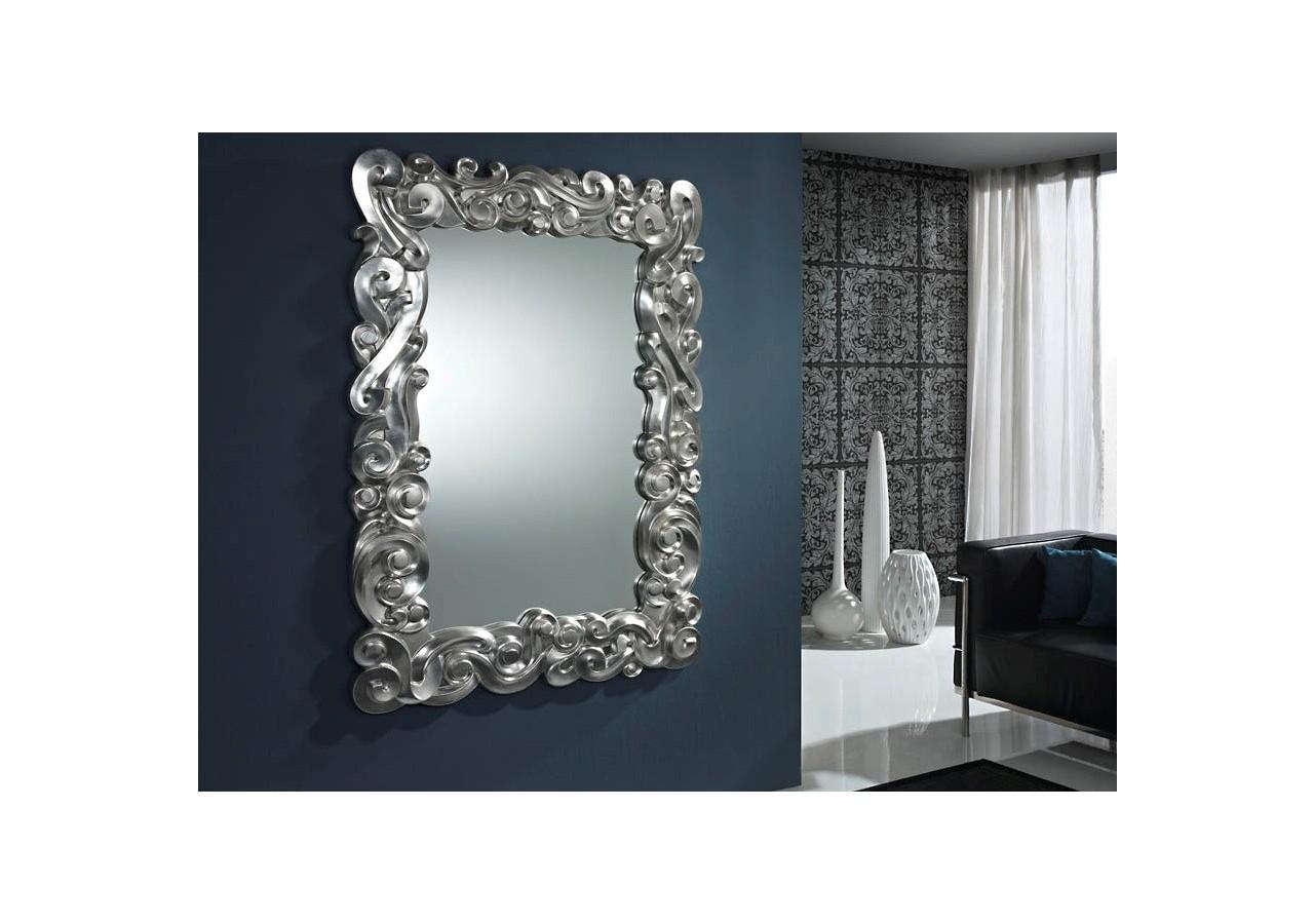 Espejo rectangular clásico plata MAJESTIC