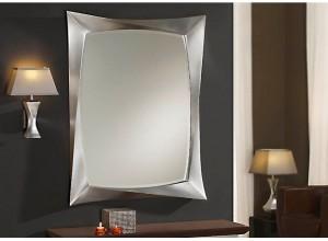 Espejo Moderno Rectangular Deco plata