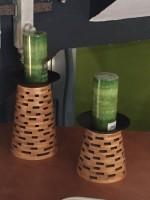 Set 2 velas con soporte