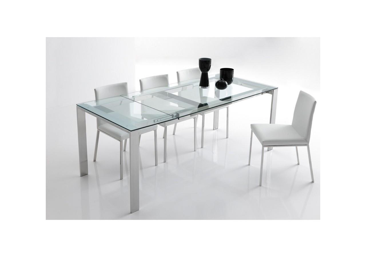Mesa de comedor PAOLA cristal transparente