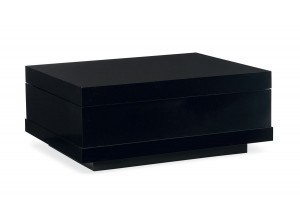 OTTOMAN MODERNO MADERA DE ROBLE COLOR NEGRO CON COMPARTIMENTOS INTERNOS FUSION COCKTAIL