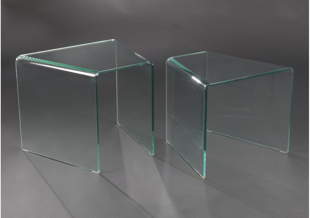 Set 2 mesas centro de cristal nido VIDRIO