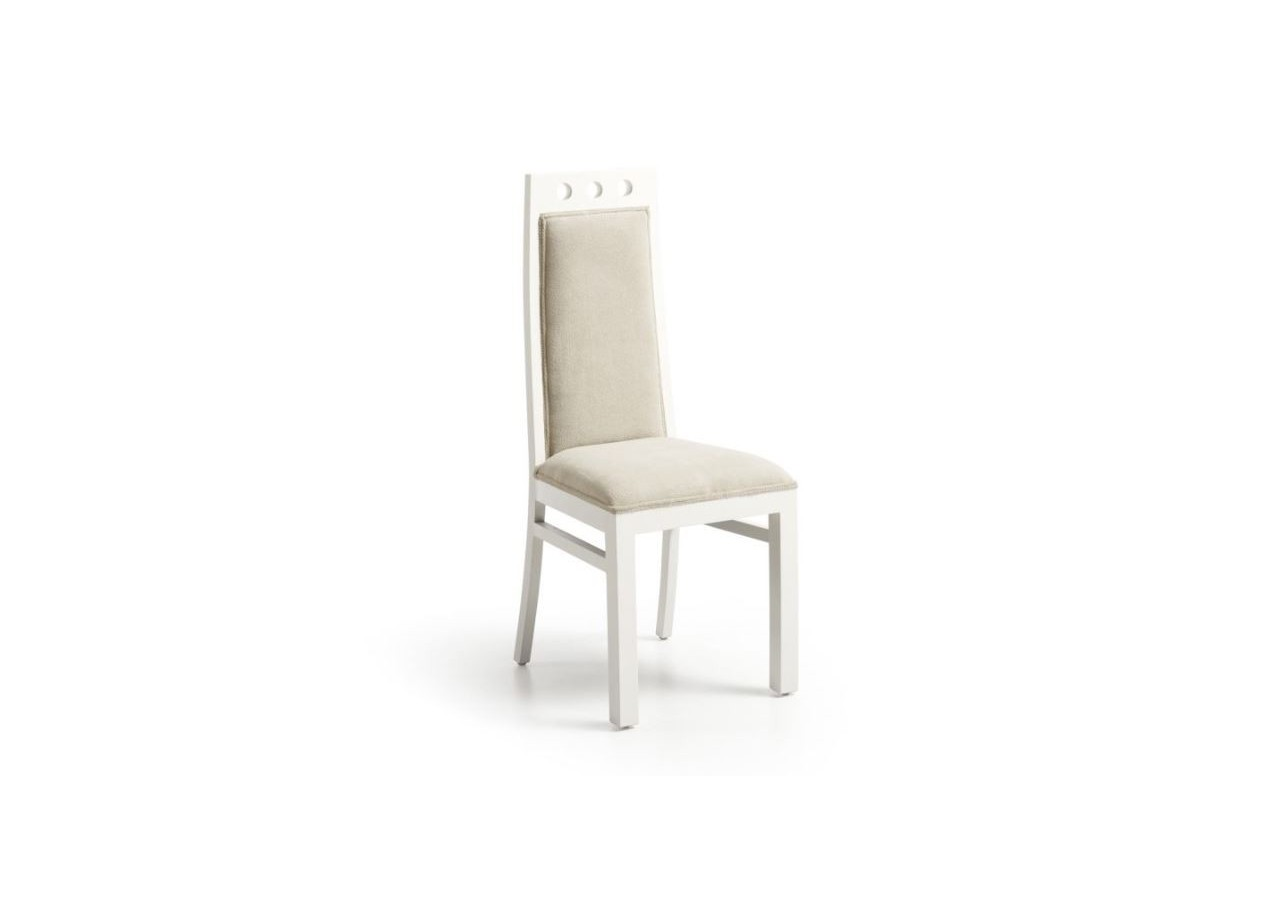 SILLA TAPIZADA COLONIAL NEW WHITE