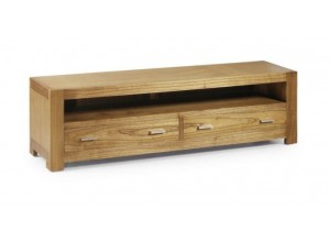 MUEBLE TV 2 CAJONES COLONIAL NATURAL