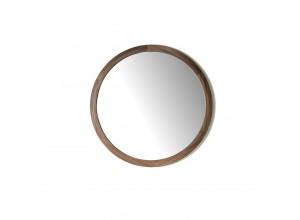 Espejo redondo madera chapada en Nogal 296-G2