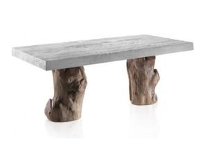 Mesa de comedor patas tronco