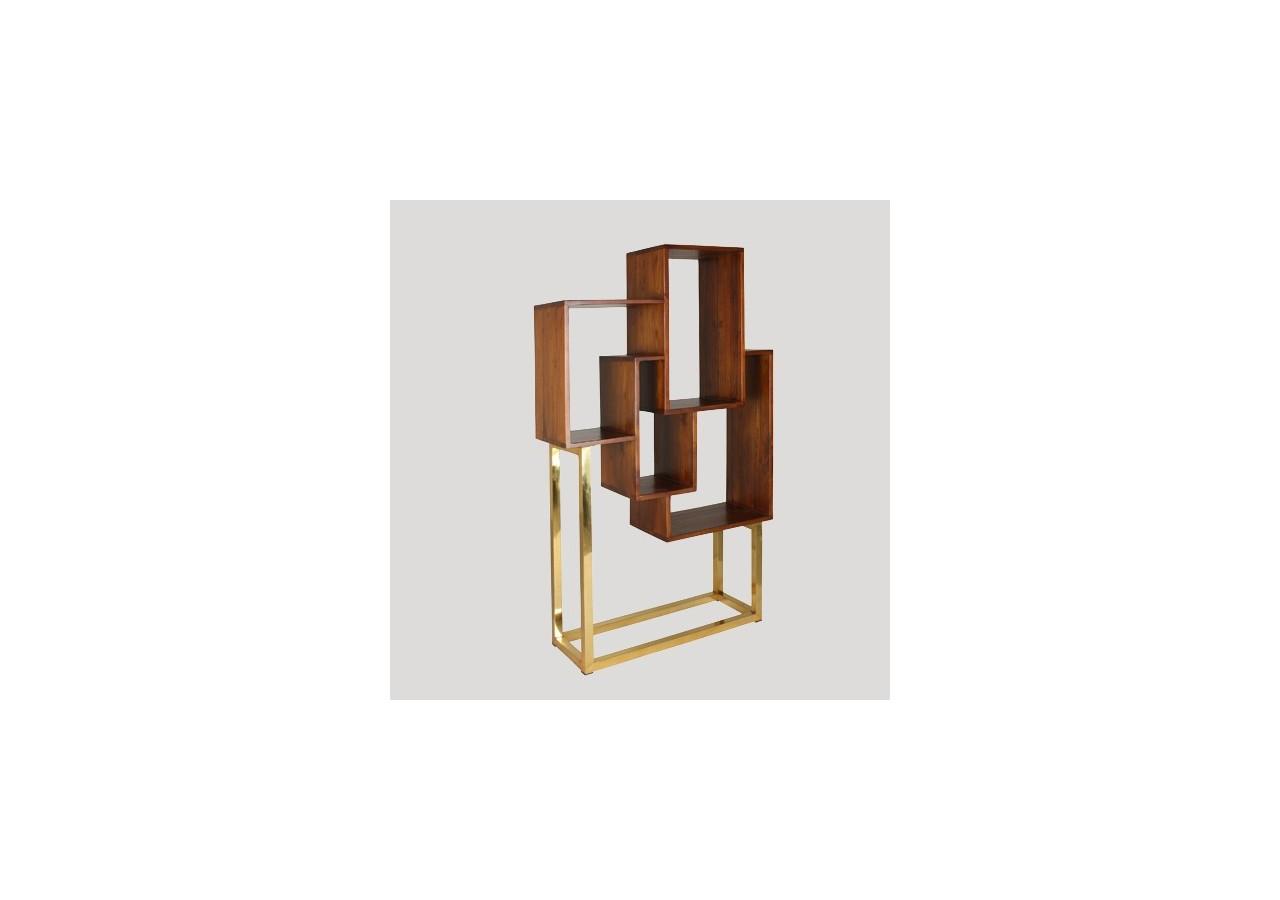 Estantería cubos vertical DORADA
