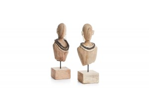 Set 2 figuras busto mujer