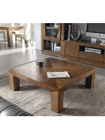 Mesa de centro cuadrada MONZA tapa madera