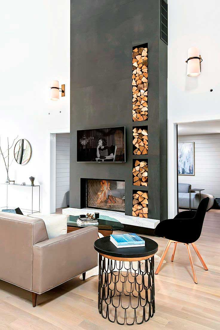 Decorar con chimeneas modernas ideas para chimeneas modernas for Decoracion para chimeneas modernas