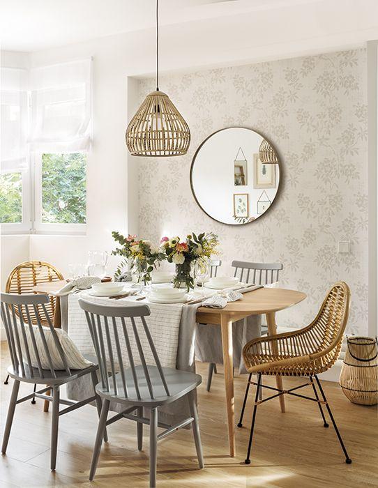 Mesas de comedor con sillas diferentes, ¿cómo combinarlas