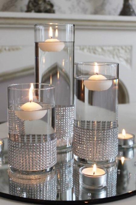 bodas de plata centros de mesa
