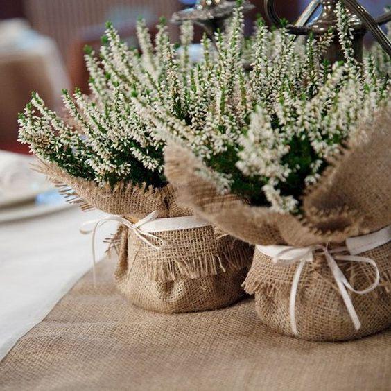 centro de mesa rustico para boda