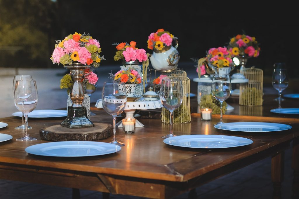 centros de mesa para bodas con copas