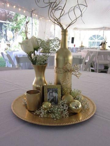 bodas de oro centro de mesa