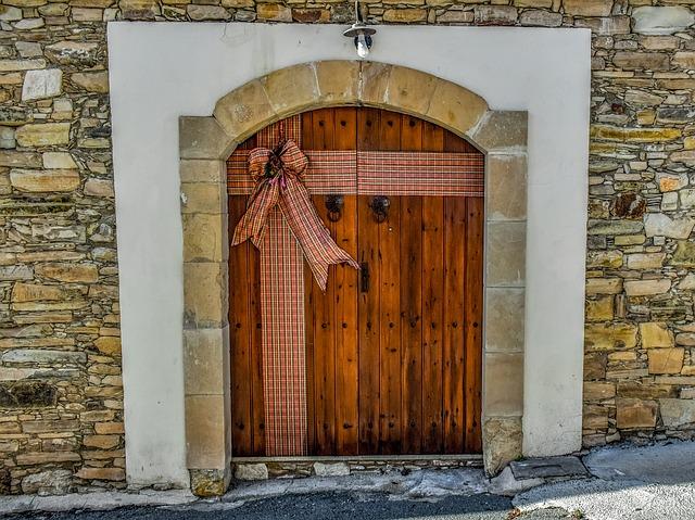Decorar puertas en Navidad 1