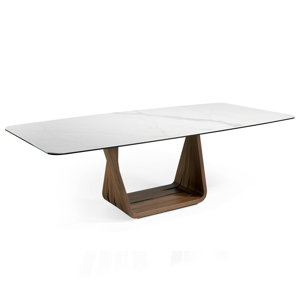 mesa de comedor de mármol tendencia 2020